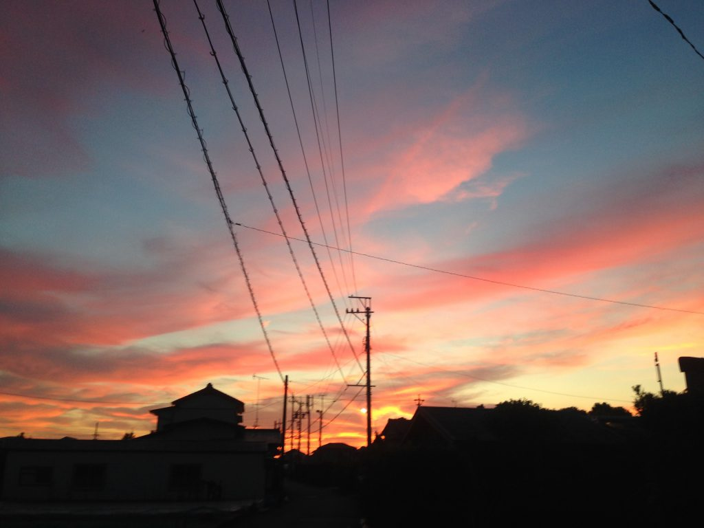 ある日の綺麗な夕日