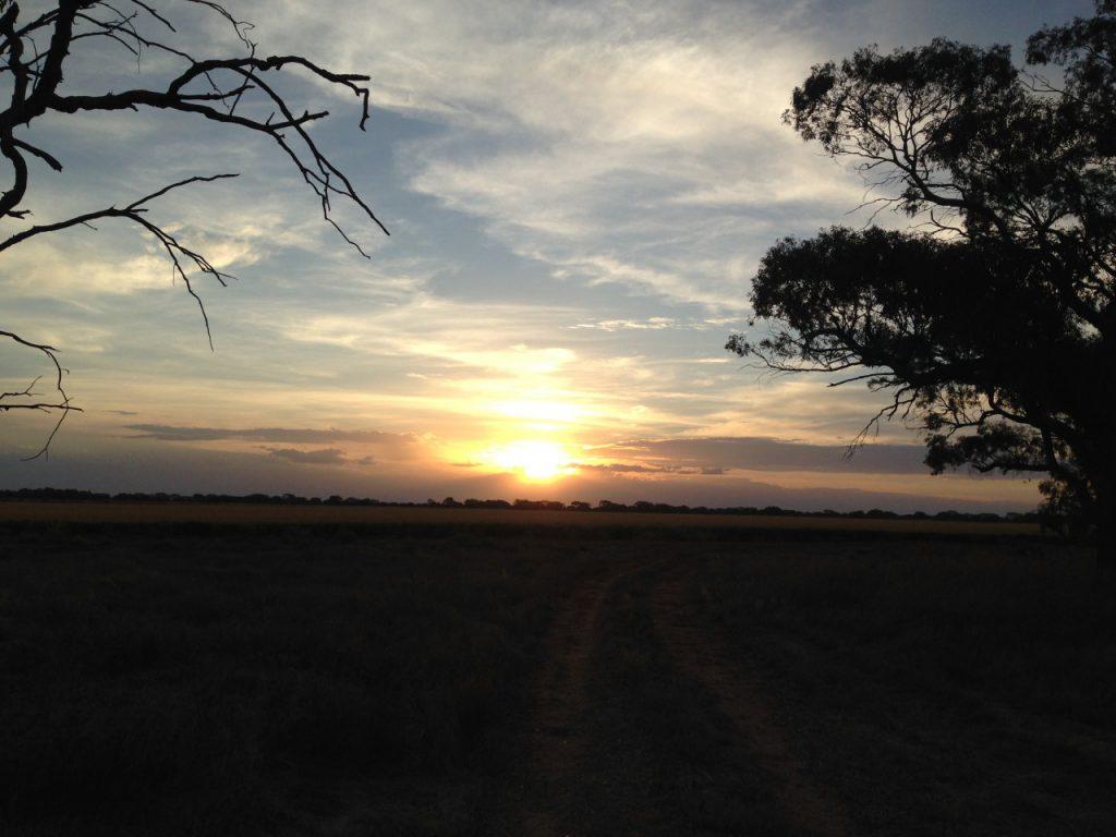 美しいマラミの夕日