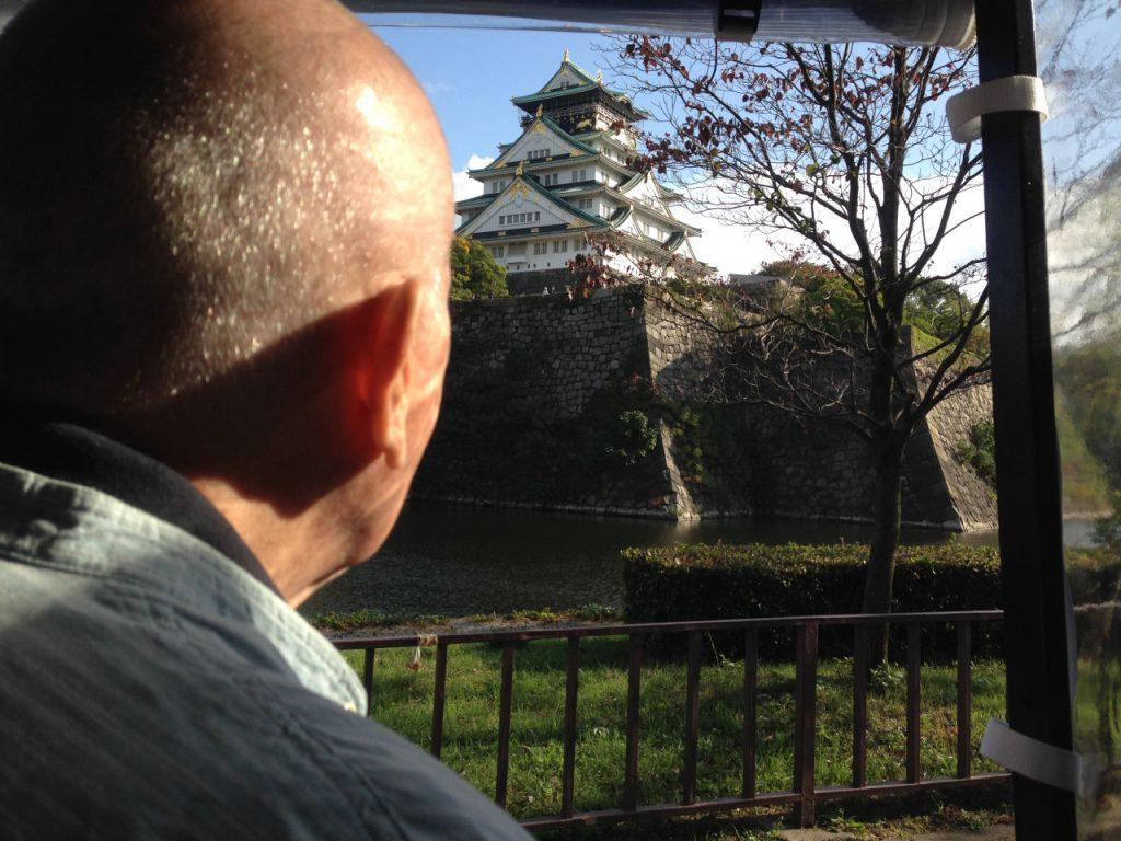 大阪城を見るChuck