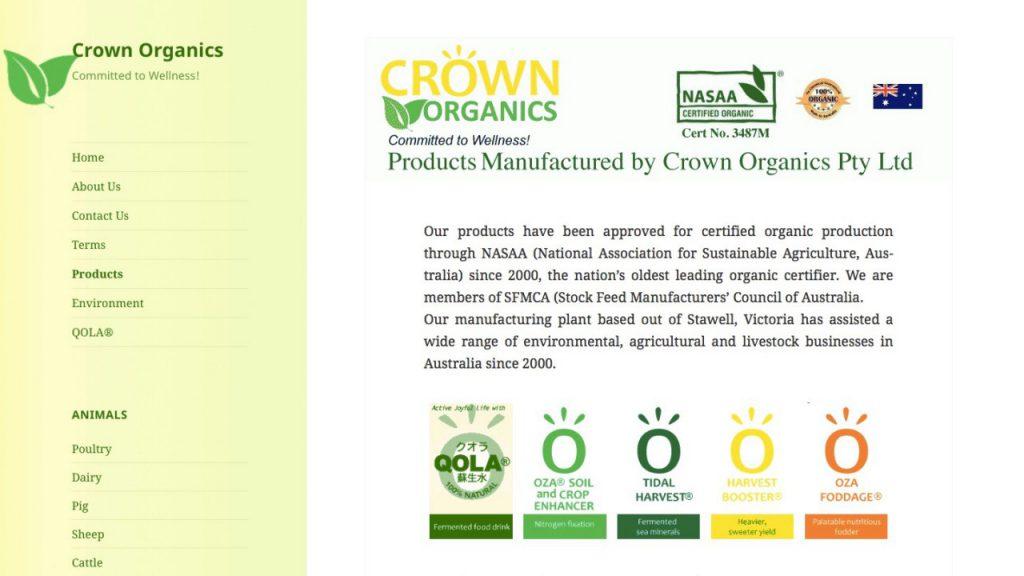 Crown organics