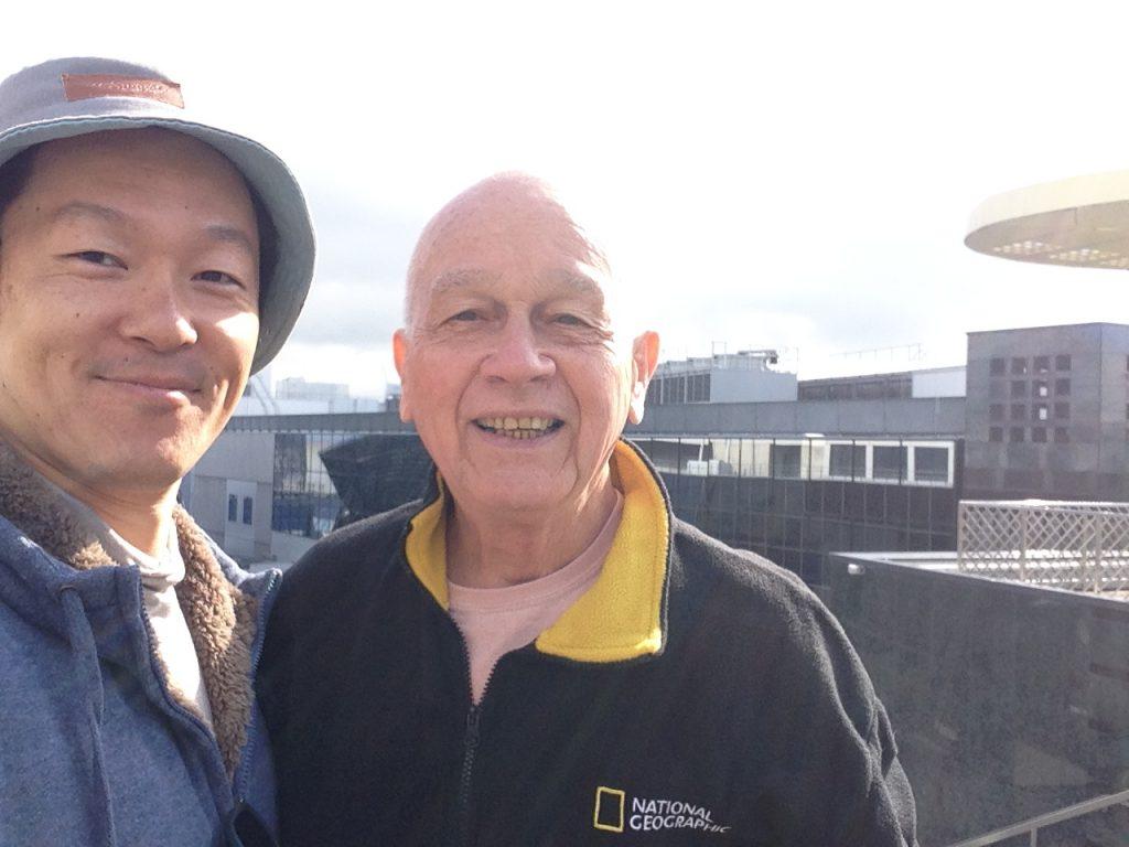 Chuckが特別気に入った京都駅屋上にて写真