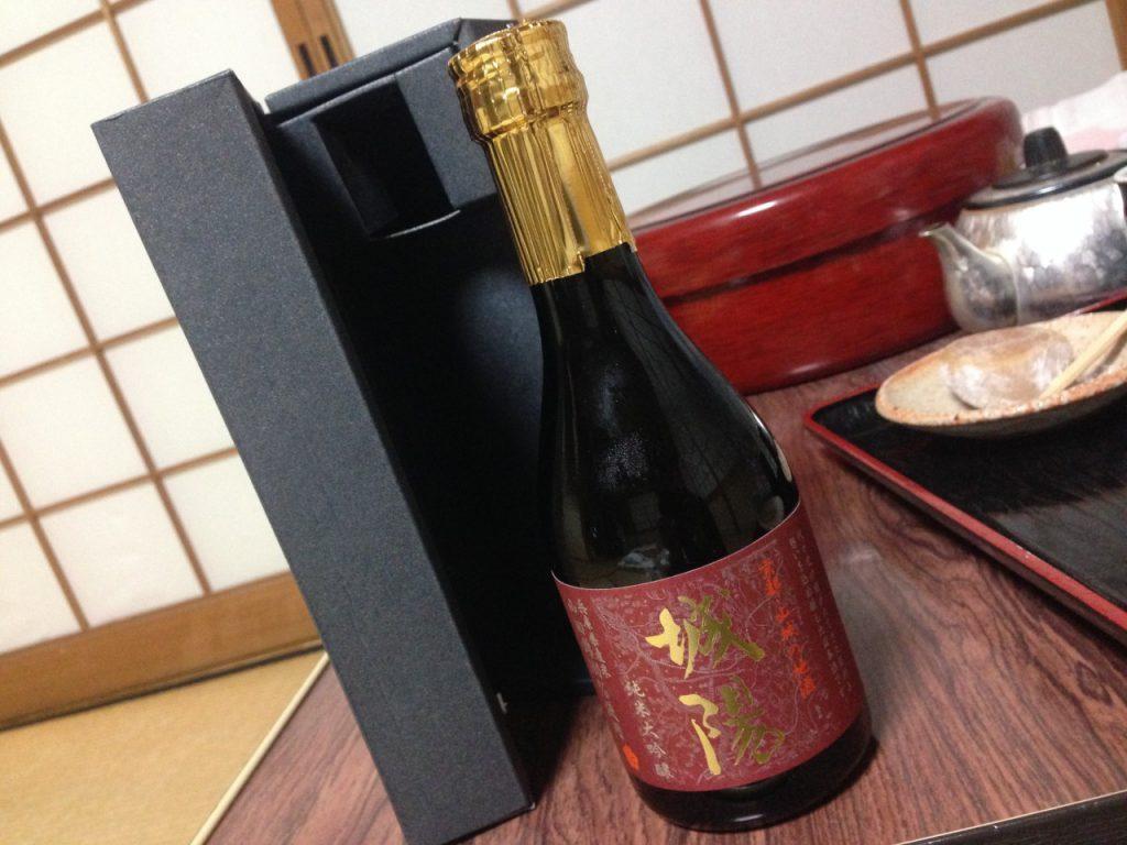 京都最後の夜は少し高いお酒で乾杯