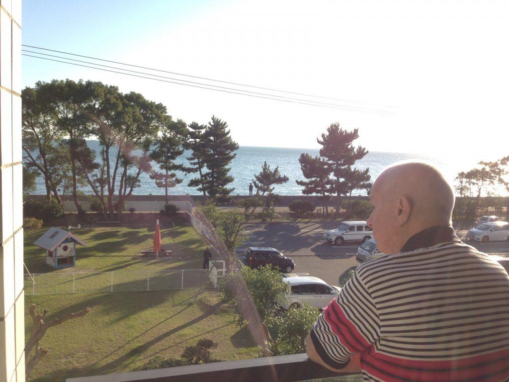 海のホテル島花の部屋からみる景色