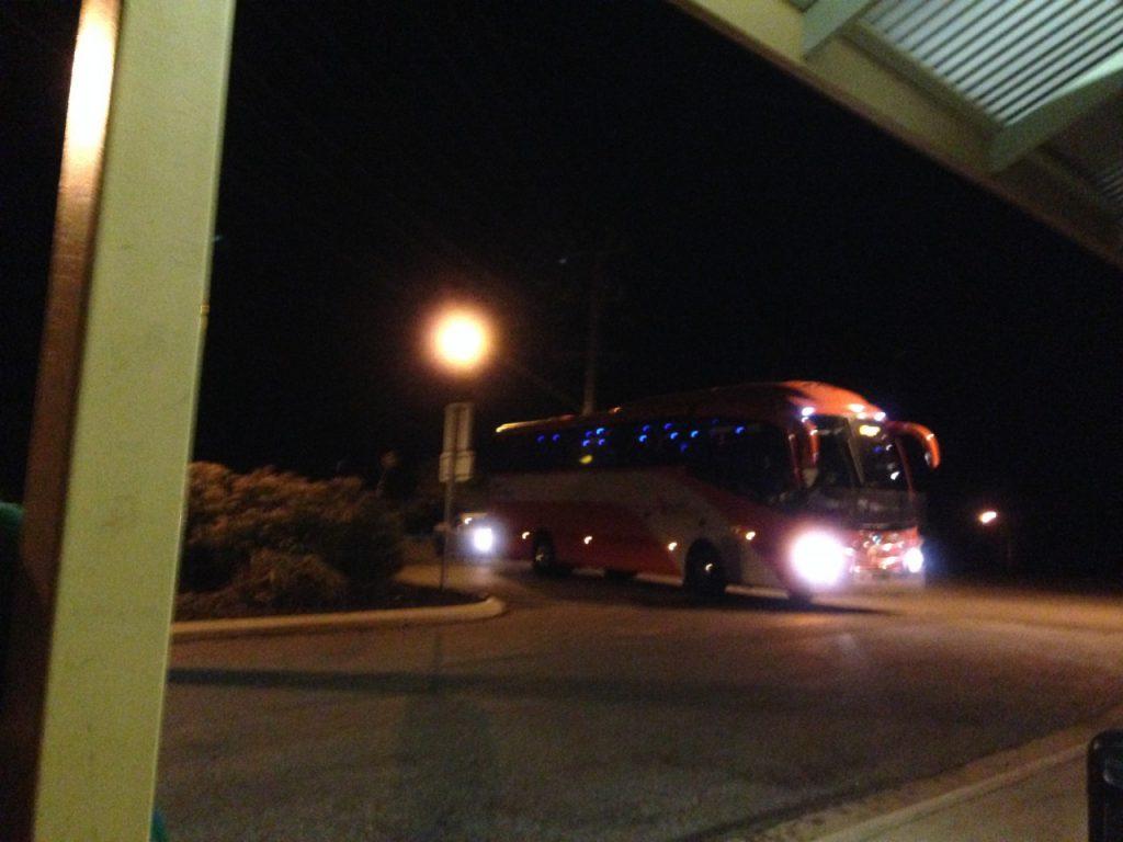 シドニーへバス移動