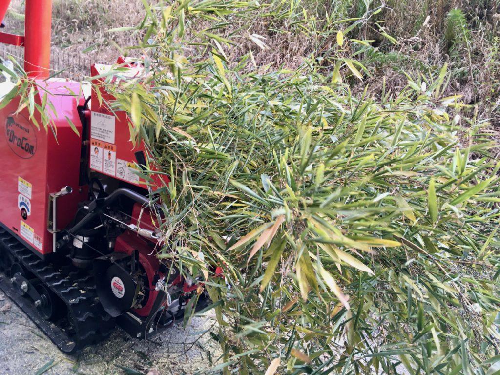 竹粉砕機で竹をパウダーに