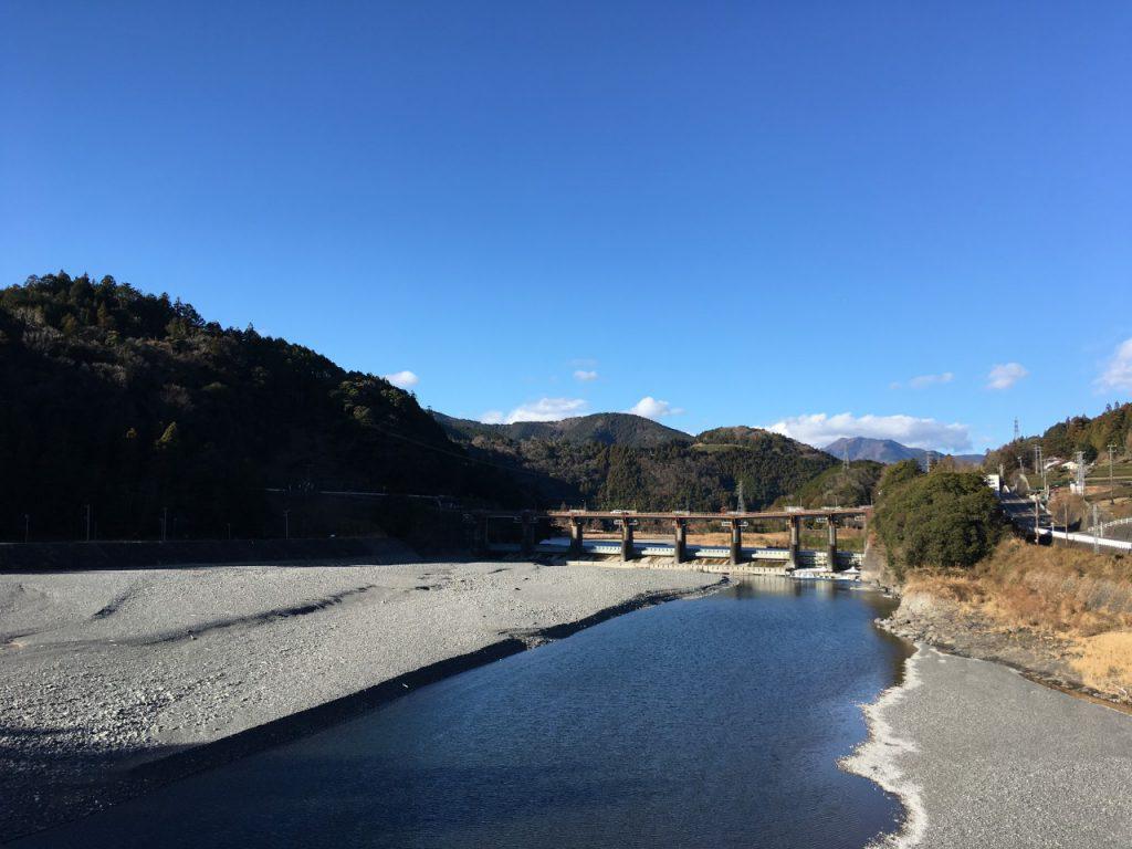塩郷の吊橋からの景色