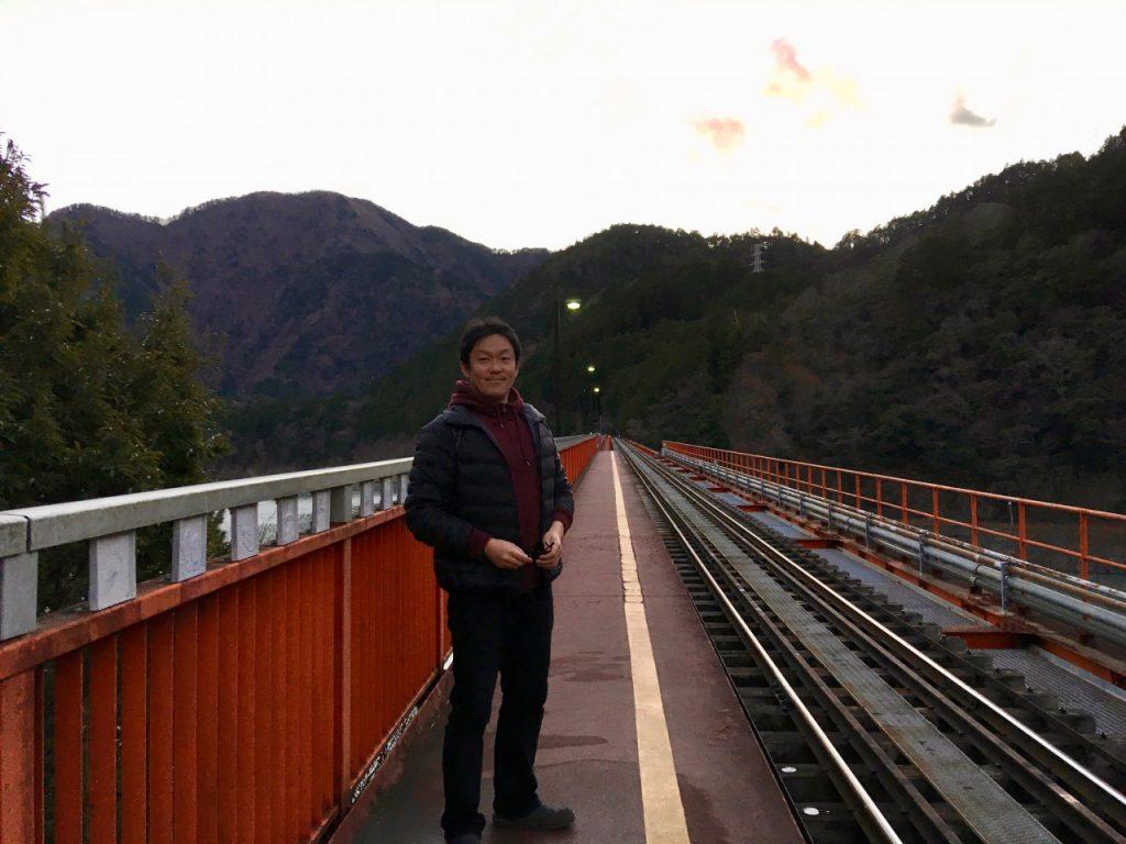 奥大井湖上駅にて